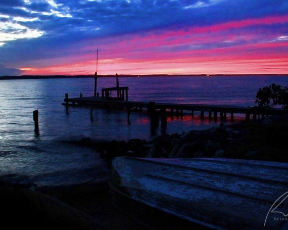 Rappahannock Sunset (Blue-Pink)