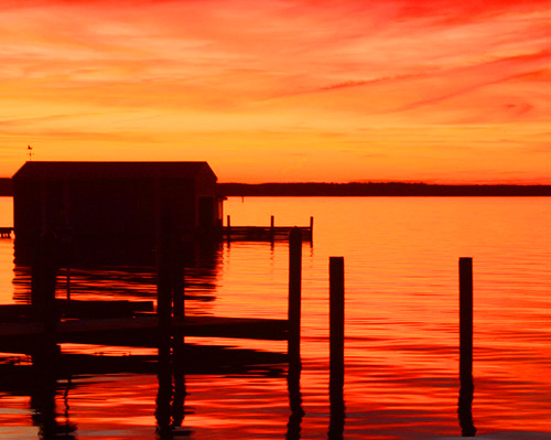 Rappahannock Sunset (Red Orange)